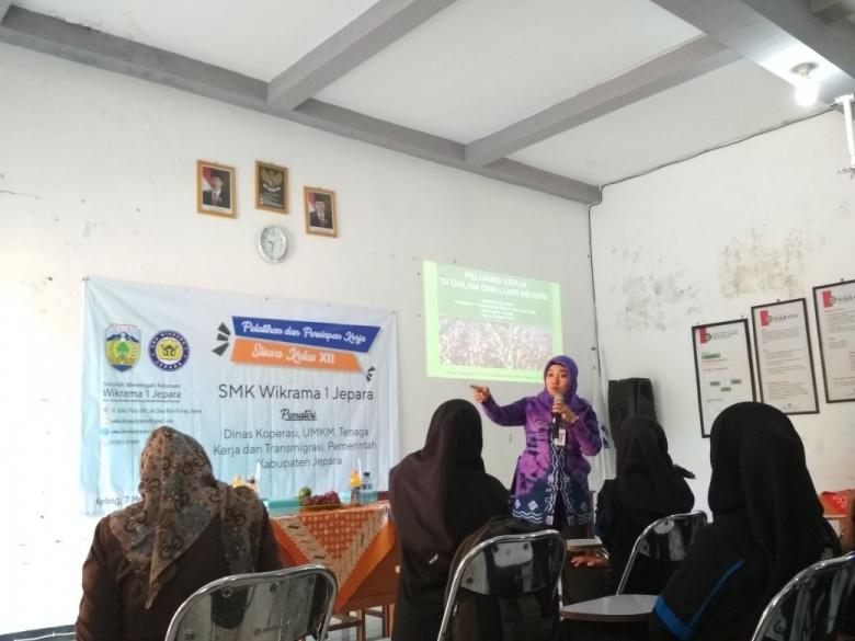 Pelatihan Persiapan Kerja SMK Wikrama 1 Jepara